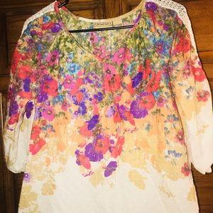 Women's floral casual blouse